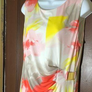 Calvin Klein size L floral dress